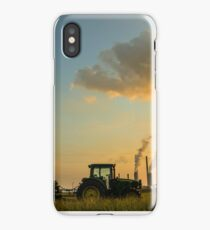 Tractor At The End Of The Day iPhone Case/Skin