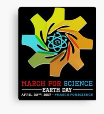 March for Science earth day 2017 Canvas Print