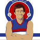 Sticker 21 - Bernie Quinlan Bulldogs by Chris Rees