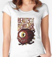 Camiseta entallada de cuello redondo La belleza está en el ojo del espectador