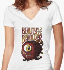 Beauty is in the Eye of the Beholder Women's Fitted V-Neck T-Shirt