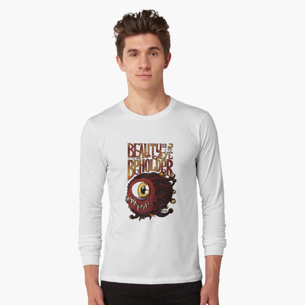 Camiseta de manga largaLa belleza está en el ojo del espectador Delante