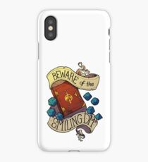 Beware of the Smiling Dungeon Master iPhone Case/Skin