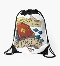 Beware of the Smiling Dungeon Master Drawstring Bag
