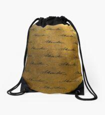 Hamilton Repeating Pattern Drawstring Bag