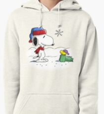 Winter Snoopy & Woodstock (Peanuts) Pullover Hoodie