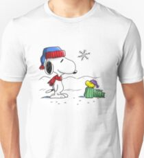 Winter Snoopy & Woodstock (Peanuts) T-Shirt