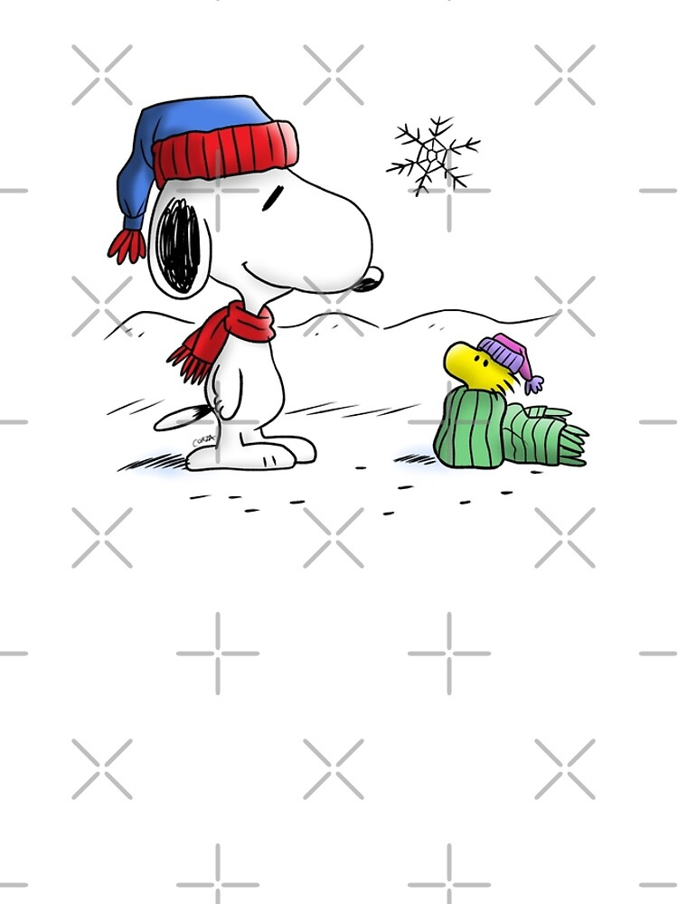 Winter Snoopy Woodstock Peanuts Graphic T Shirt Dress By