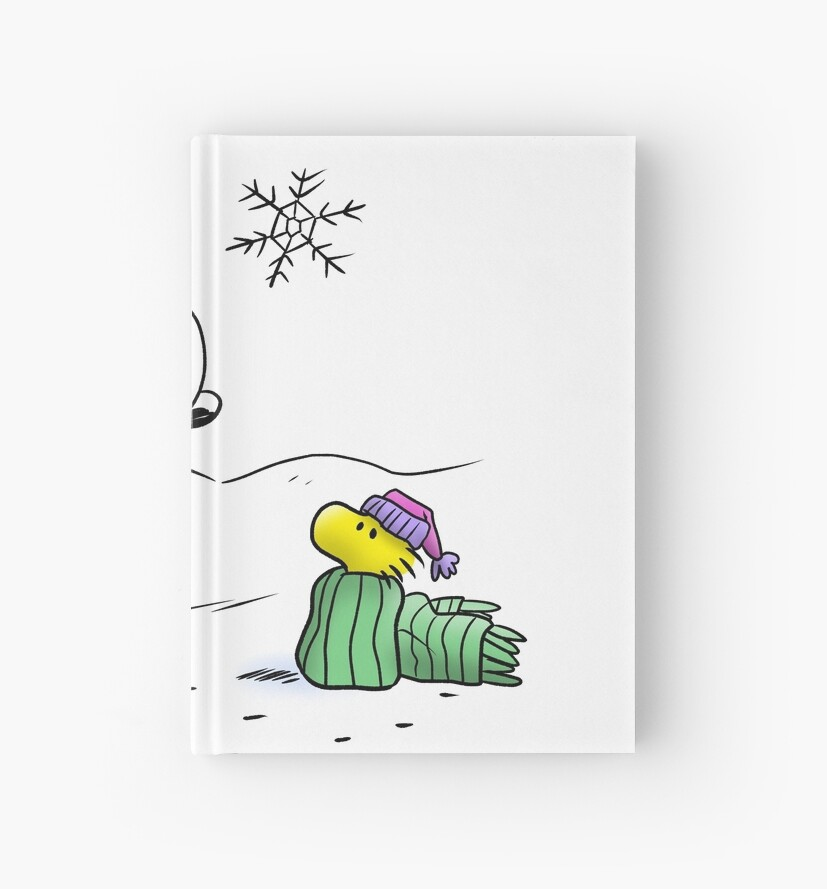 Winter Snoopy Woodstock Peanuts Hardcover Journals By Corzamoon