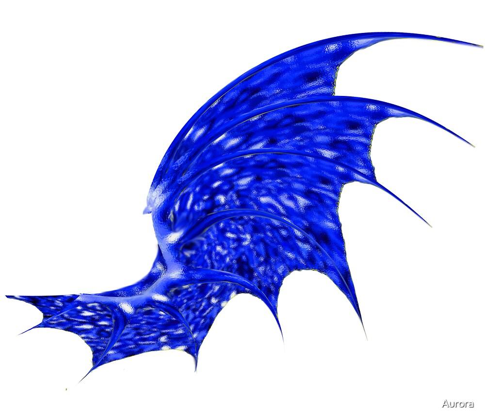 blue dragon wing by Aurora