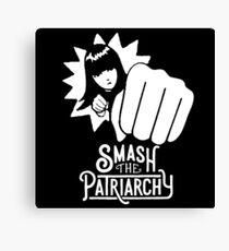 Woman Smash the Patriarchy Canvas Print