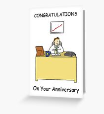 congratulations work anniversary for male greeting card - Work Anniversary Cards