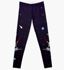 Unicorn Riding Narwhal In Space Leggings