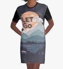 Let's Go Graphic T-Shirt Dress