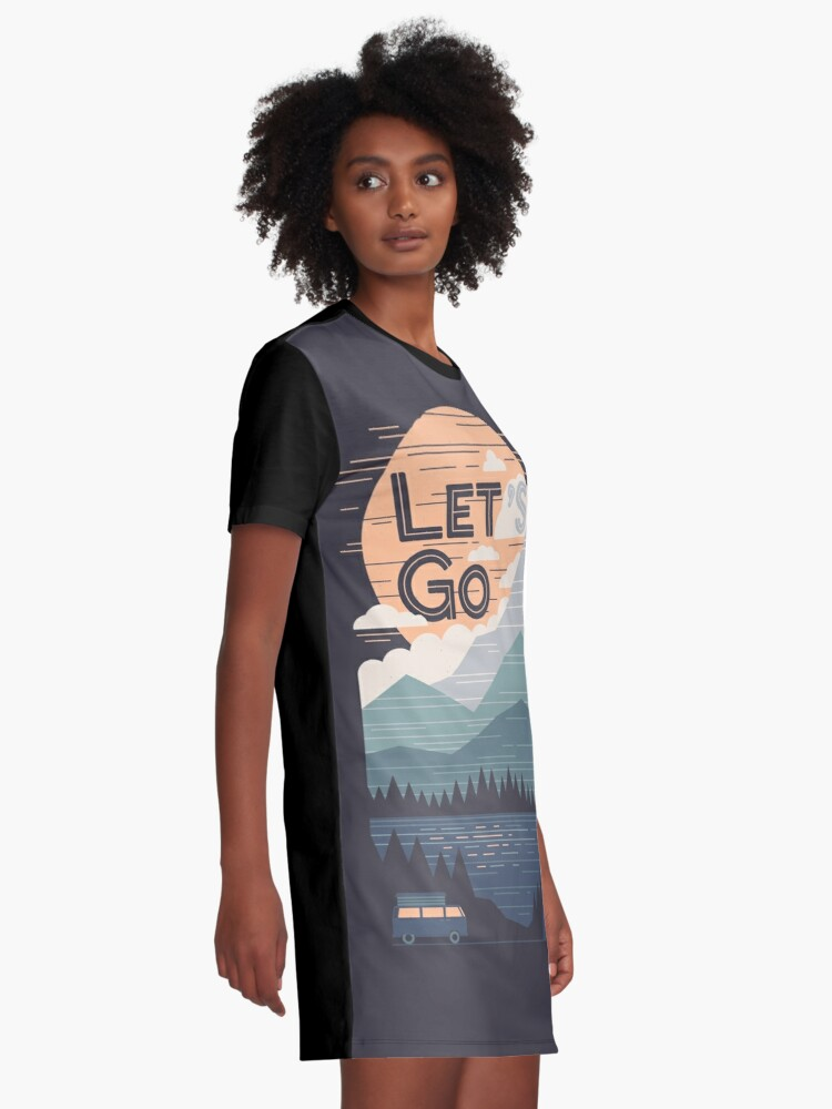 Alternate view of Let's Go Graphic T-Shirt Dress