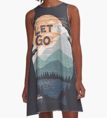 Let's Go A-Line Dress