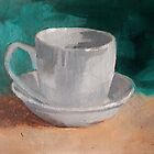 Simply A Cup And Saucer by Jaana Day