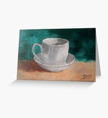 Simply A Cup And Saucer Greeting Card