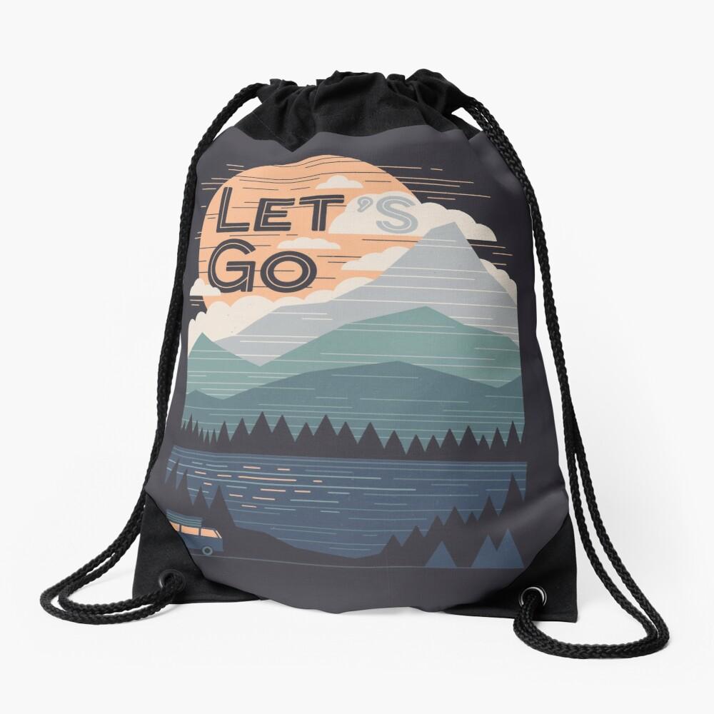 Let's Go Drawstring Bag