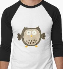 retro cartoon owl Men's Baseball ¾ T-Shirt