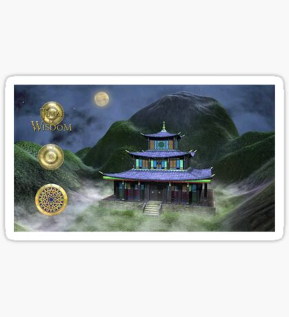 Temple Of Wisdom Sticker