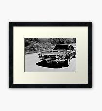 1967 Ford Mustang B/W  Framed Print