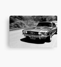 1967 Ford Mustang B/W  Canvas Print