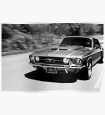 1967 Ford Mustang S / W Poster