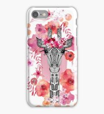 FLOWER GIRAFFE iPhone Case/Skin