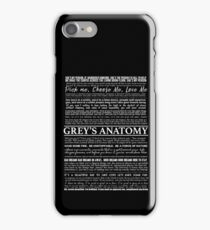 typography black iPhone Case/Skin