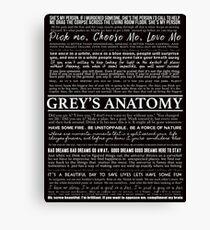 typography black Canvas Print
