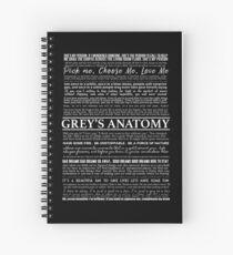 Cuaderno de espiral tipografía negro