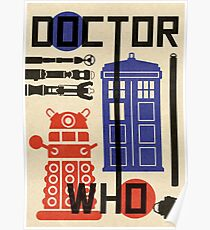 Dr Who Bauhaus Style  Poster