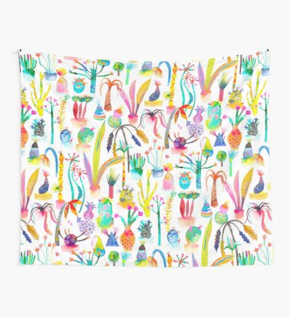 Lush and dreamy cacti garden Wall Tapestry