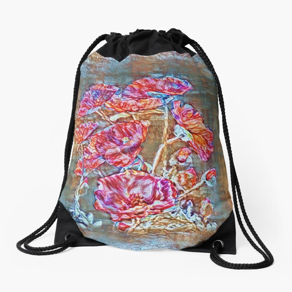 Poppies Drawstring Bag
