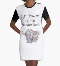 Afrikaans is my Moedertaal Graphic T-Shirt Dress