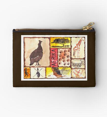 Lodge décor - 'n Afrika Collage en Bosvelddrome | An African Collage Zipper Pouch