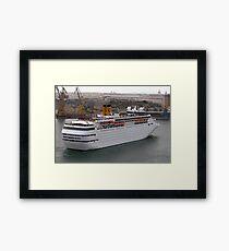 Cruise Liner Framed Print