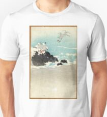 Plovers Over Waves - Anon - 1880 - woodcut Unisex T-Shirt