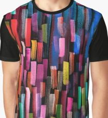Multicolored watercolor stripes pattern Graphic T-Shirt