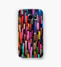 Multicolored watercolor stripes pattern Samsung Galaxy Case/Skin
