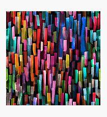 Multicolored watercolor stripes pattern Photographic Print