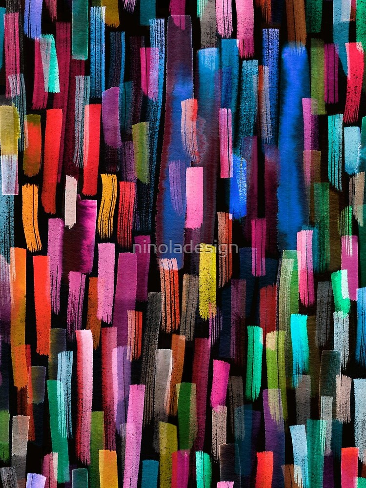 Multicolored watercolor stripes pattern by ninoladesign
