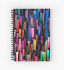 Multicolored watercolor stripes pattern Spiral Notebook