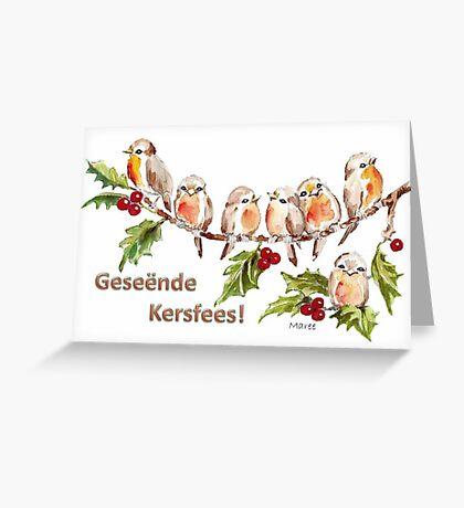 Geseënde Kersfees! Greeting Card