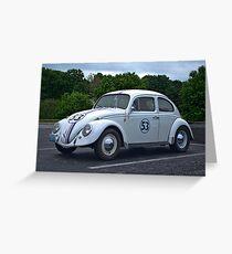 1968 VW Herbie the Love Bug Greeting Card