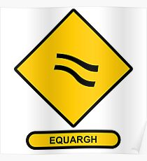 Math Sign Equargh Poster