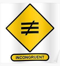 Math Sign Incongruent Poster