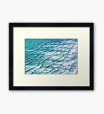 ocean water texture Framed Print