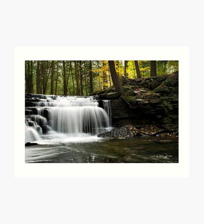 Serenity Waterfall Landscape Art Print